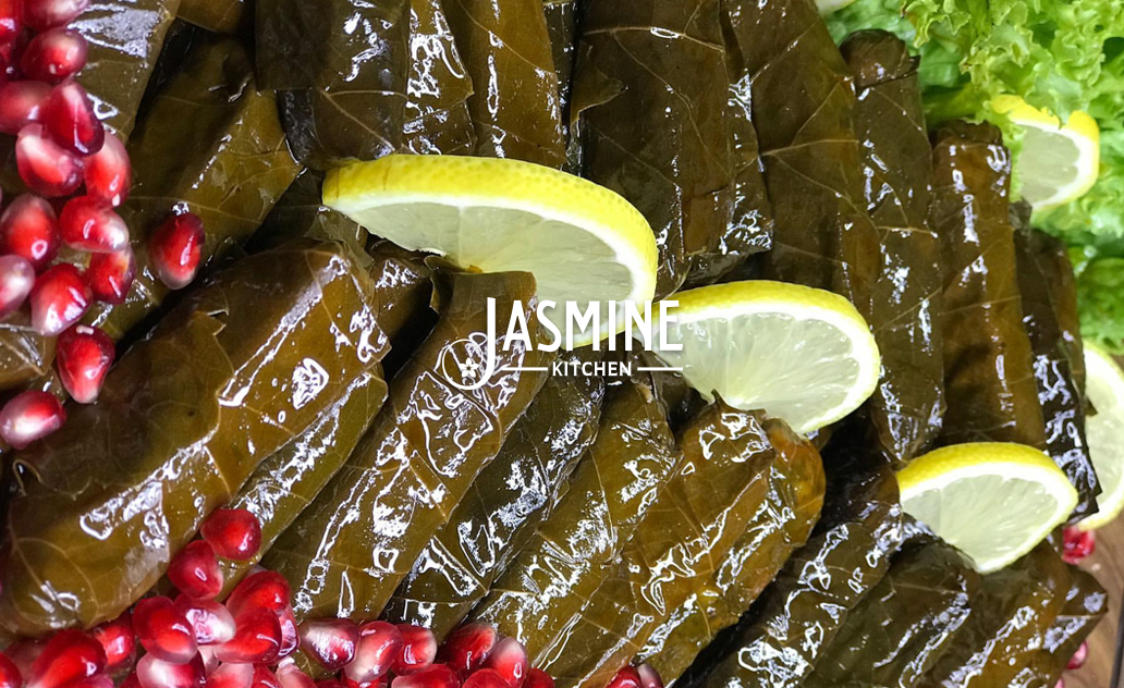 "Yalanji (stuffed grape leaves) (vegan – vegetarian) <abbr title=""Vegetarian"" class=""vegetarianicon"">Ⓥ</abbr> ($5.99)"
